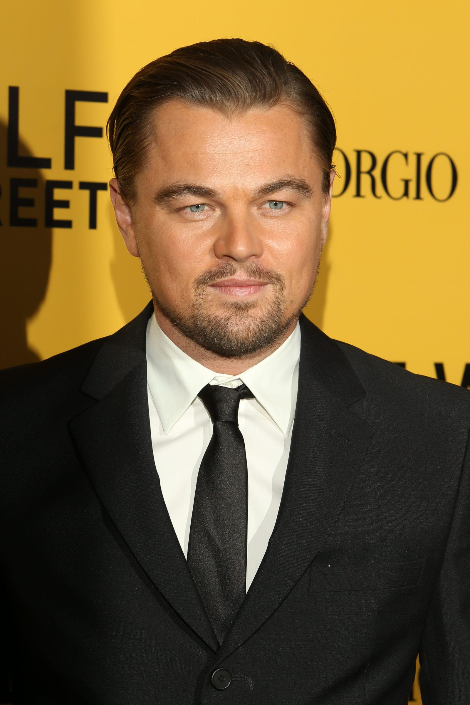 Leonardo DiCaprio Windows Peak Slicked Back