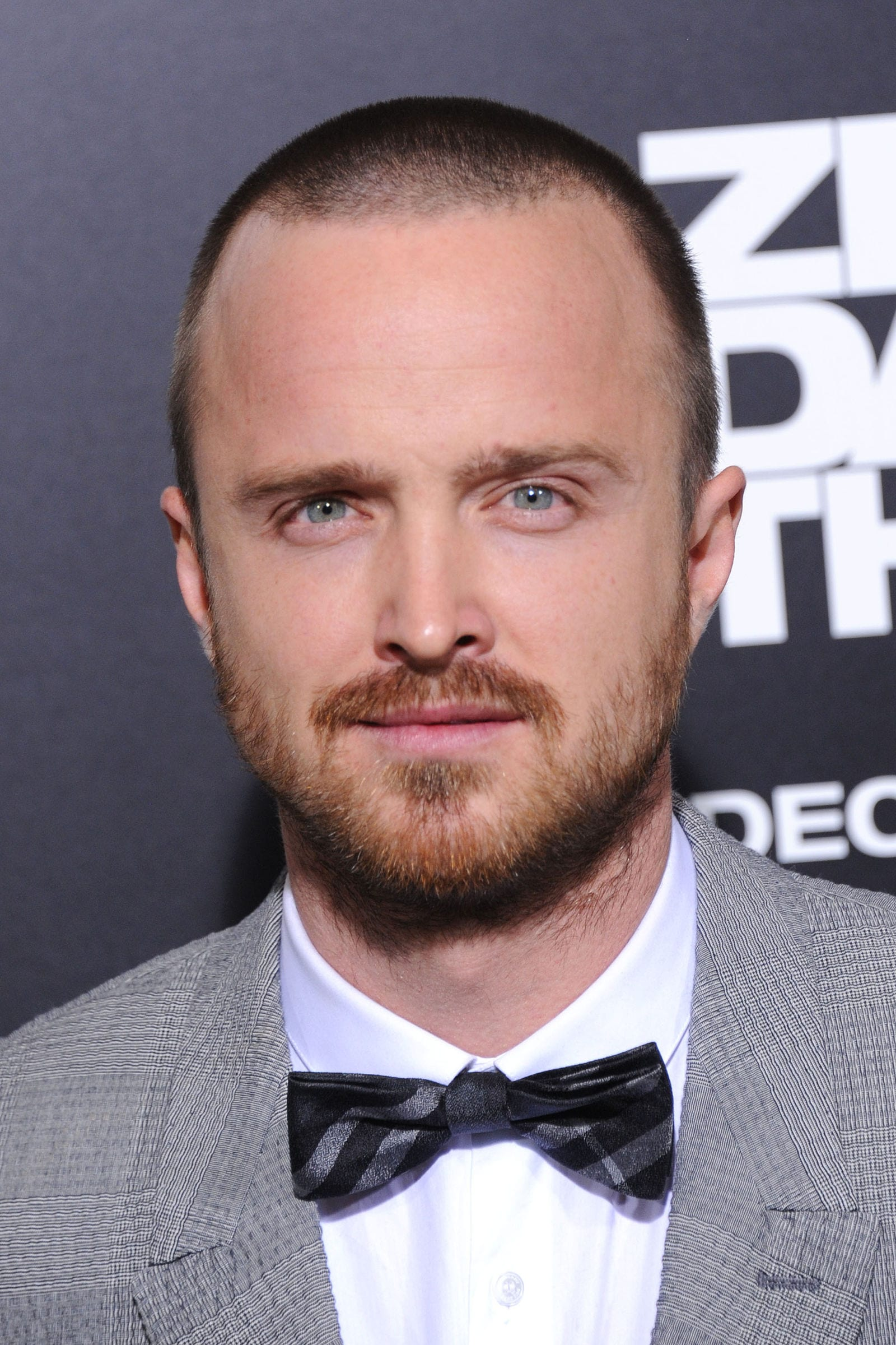 Aaron Paul buzz cut by DFree