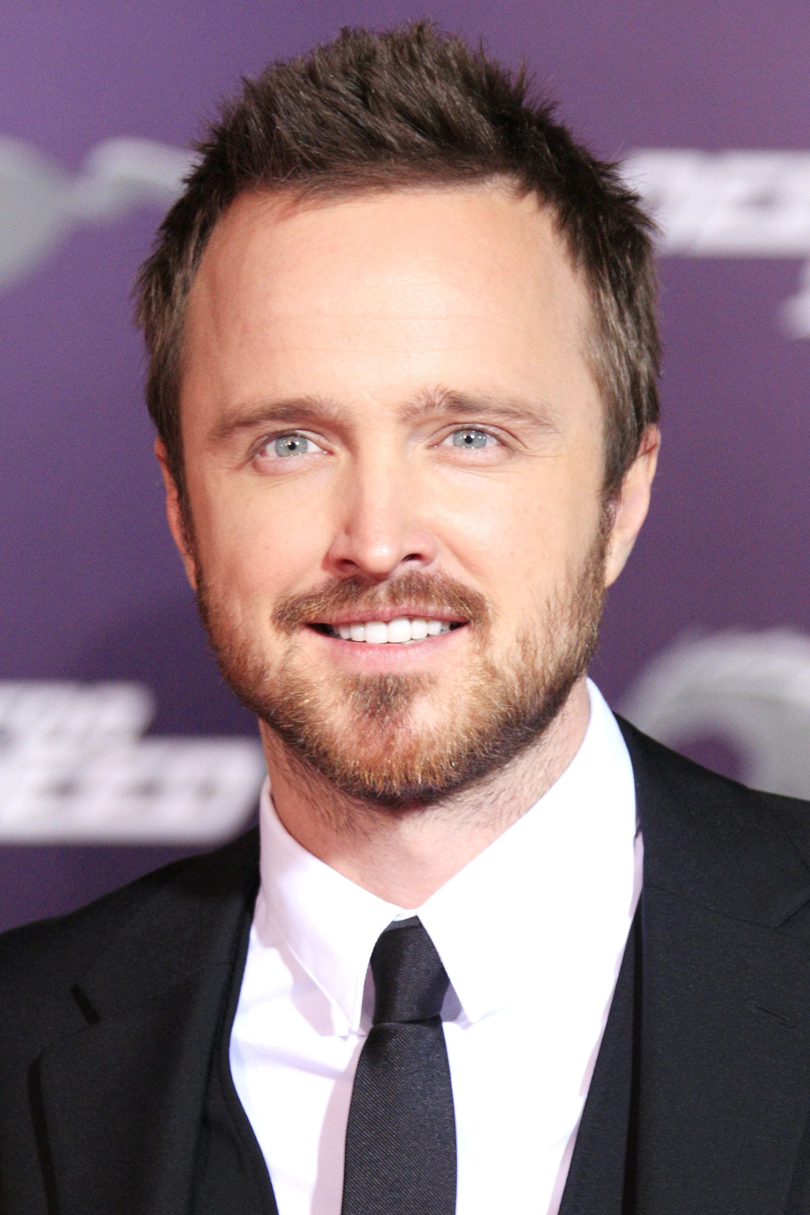 Aaron Paul short brushed up hairstyle by Joe Seer