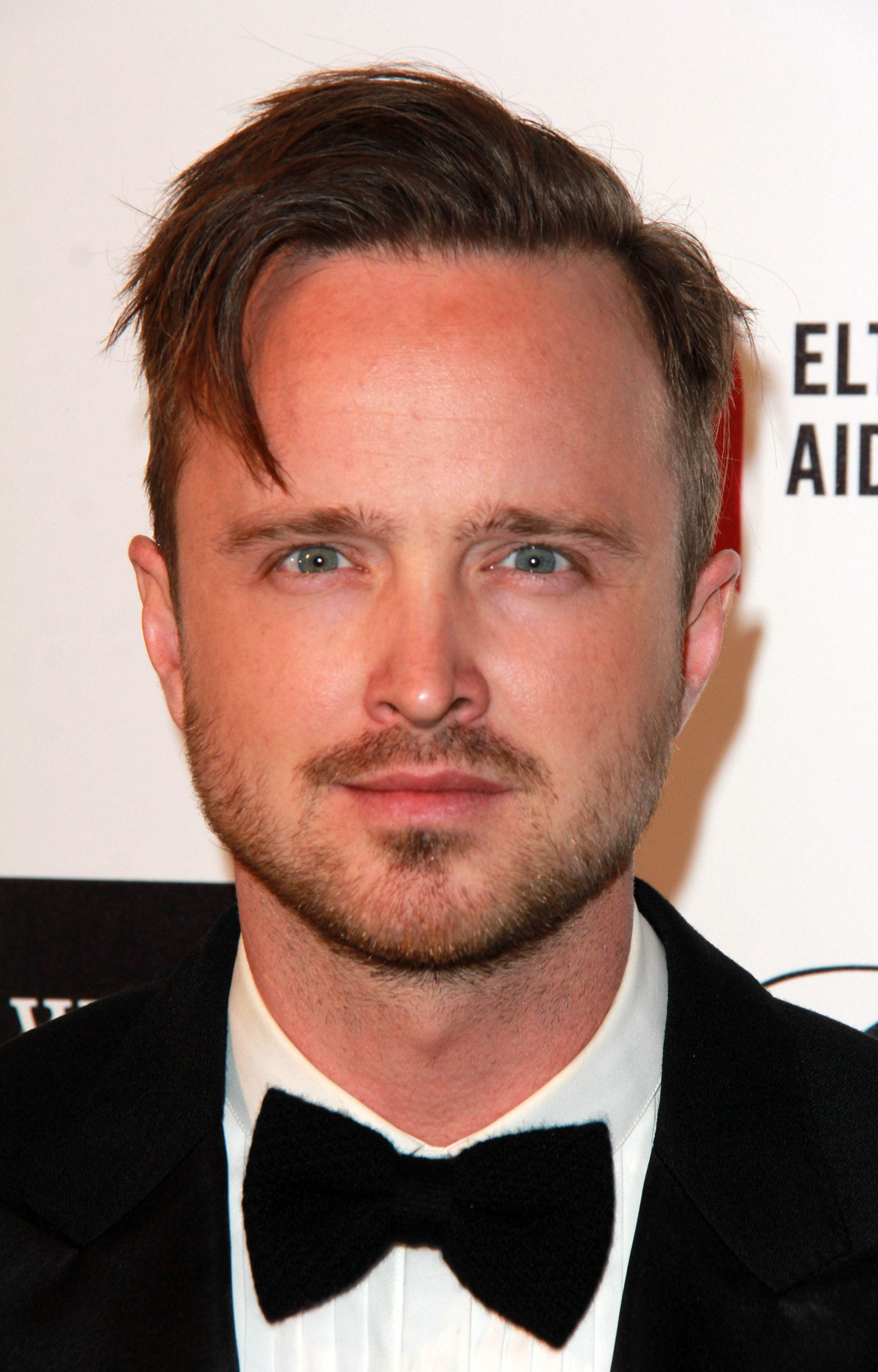 Aaron Paul side swept side part by Kathy Hutchins