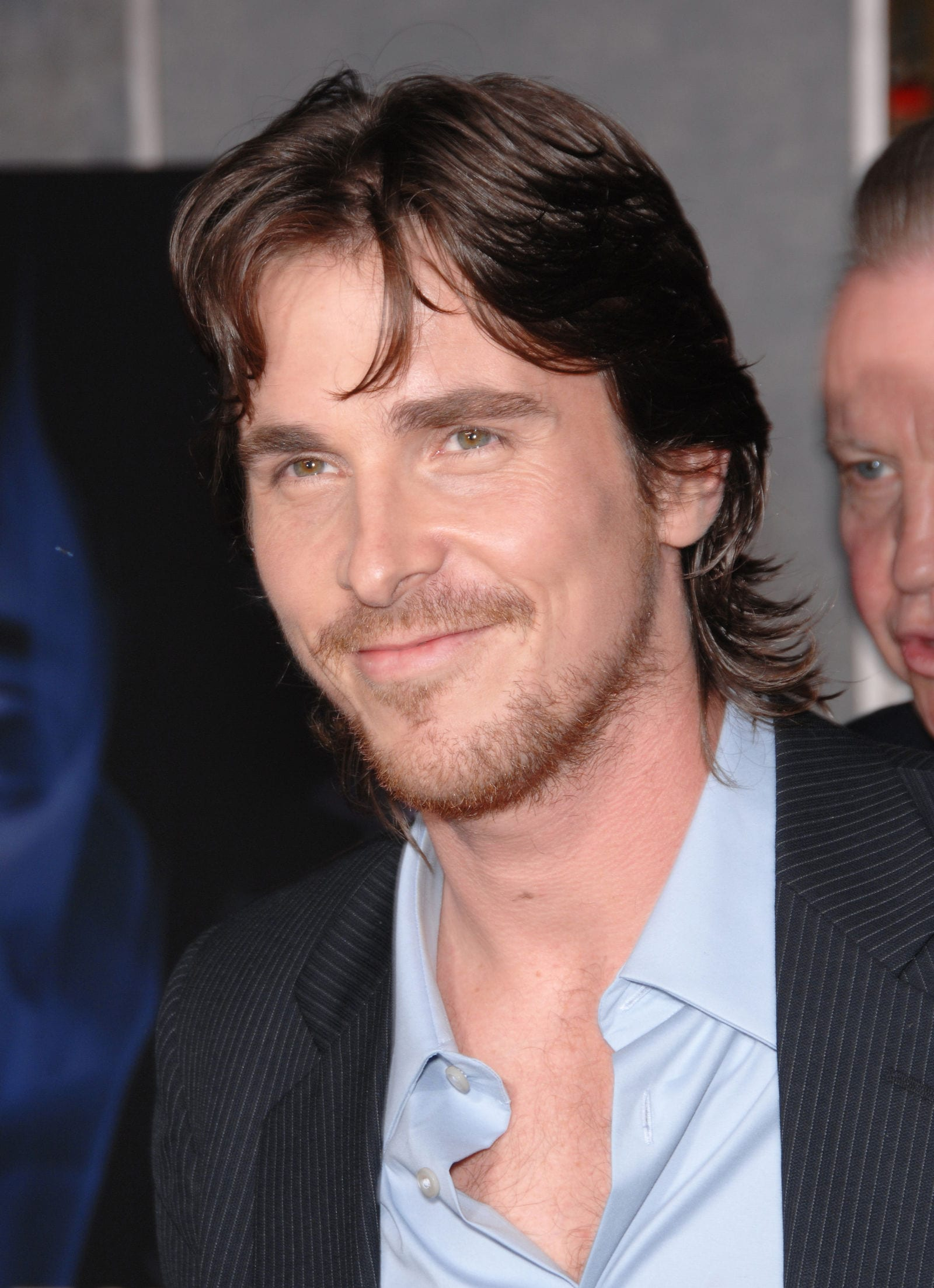 CHRISTIAN BALE modern mullet curtained hairstyle by Featureflash Photo Agency