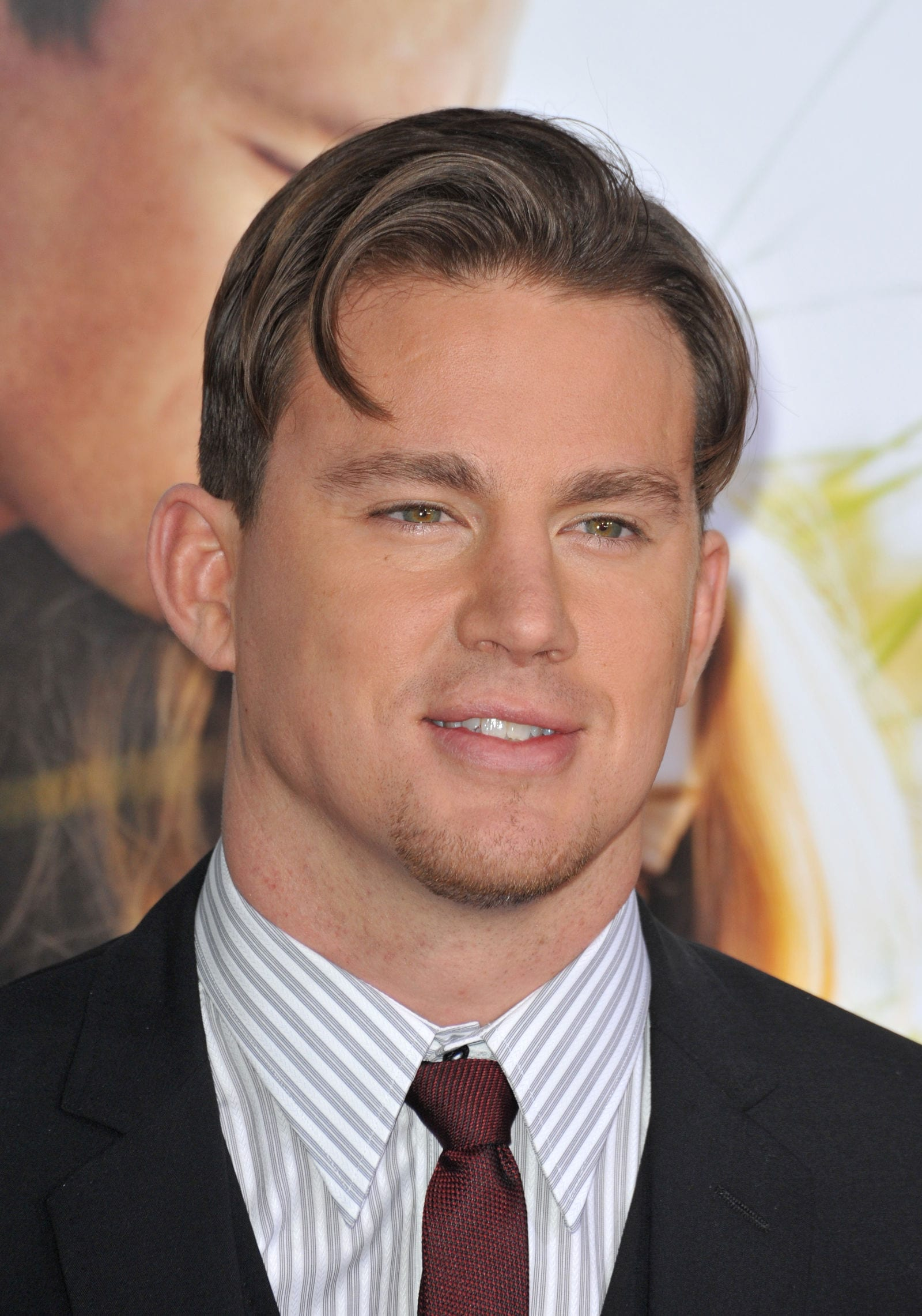 Channing Tatum elephant trunk hairstyle by Featureflash Photo Agency