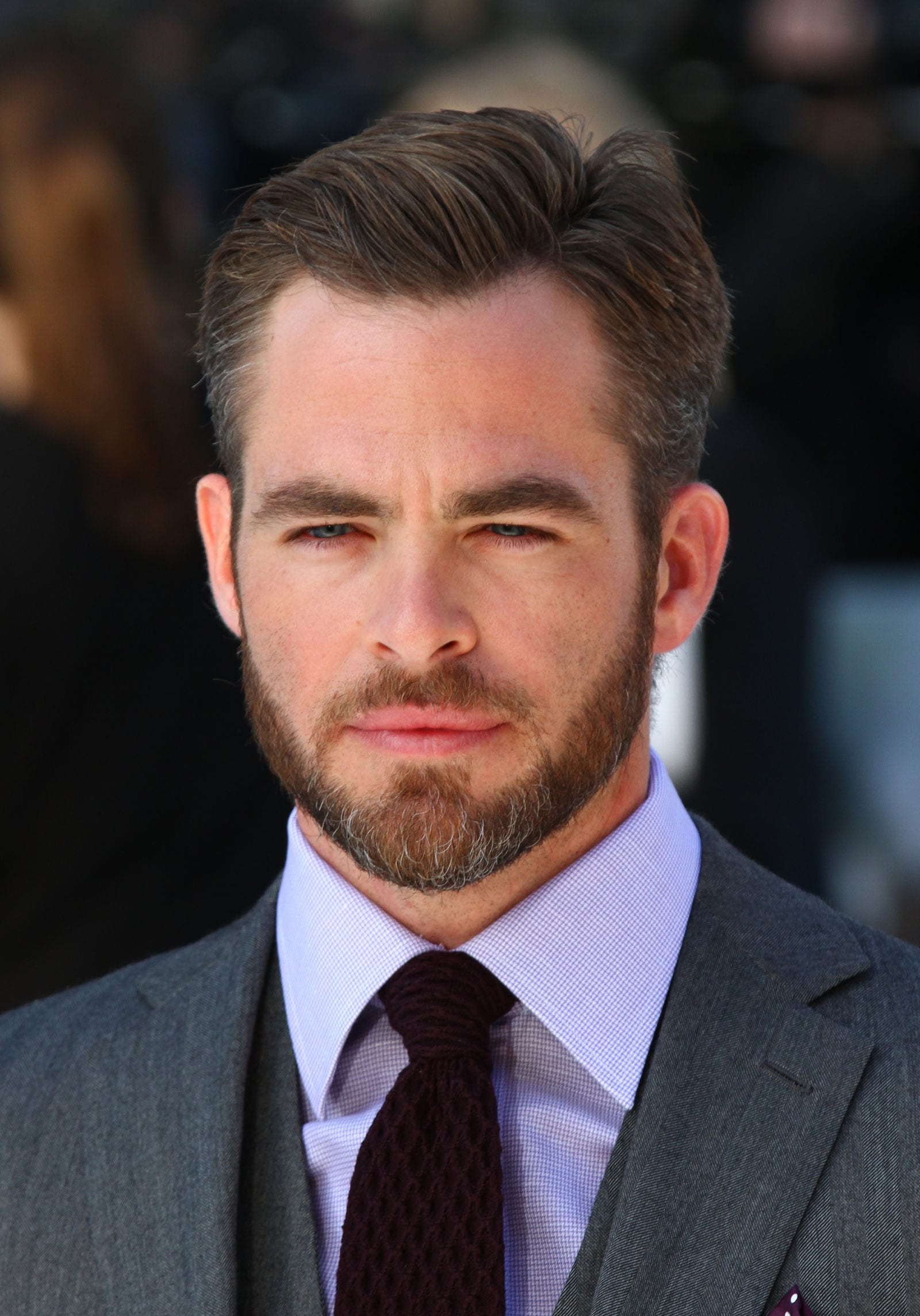 Chris Pine side part with beard by Twocoms