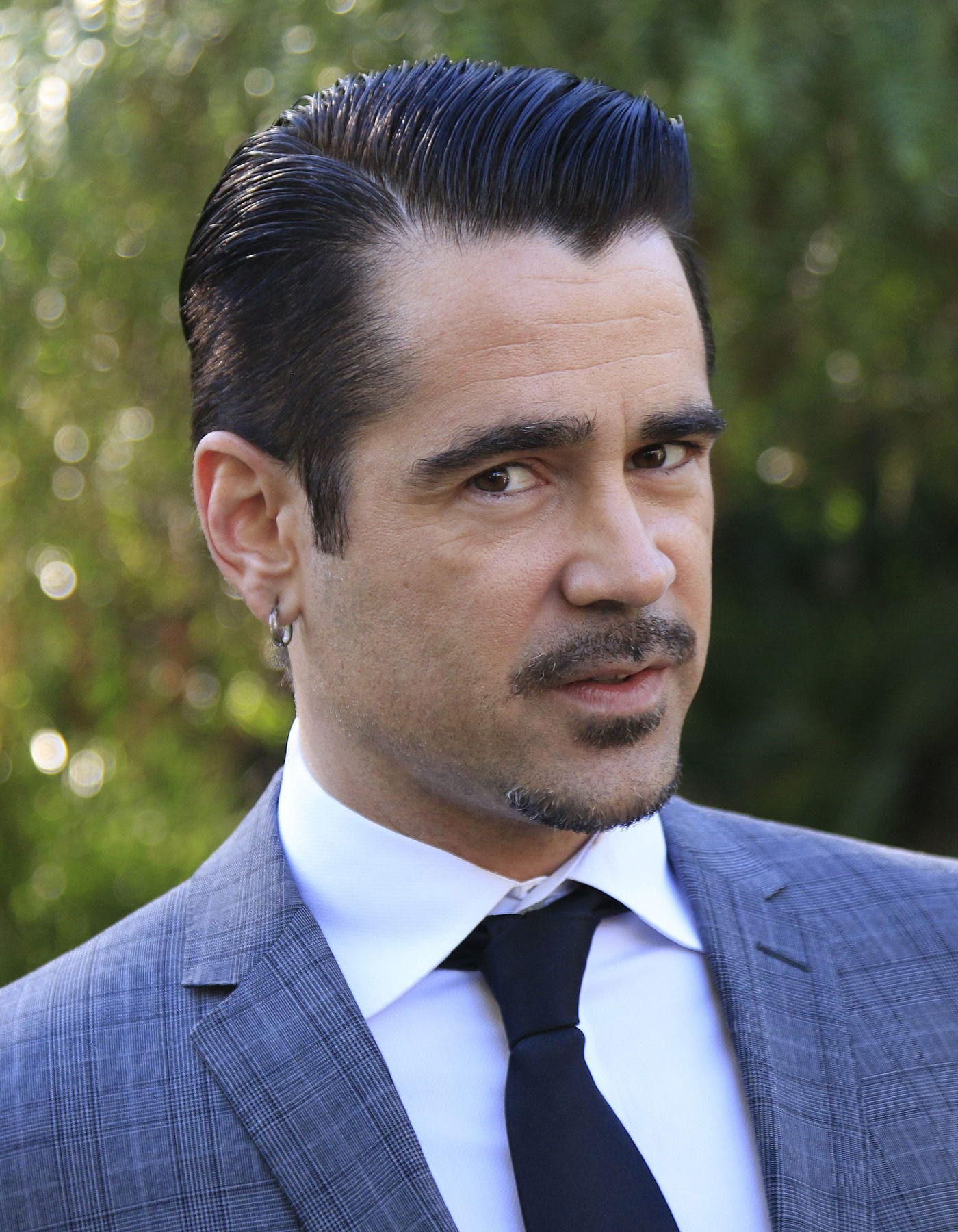 Colin Farrell classic gentleman slicked back side part by Joe Seer