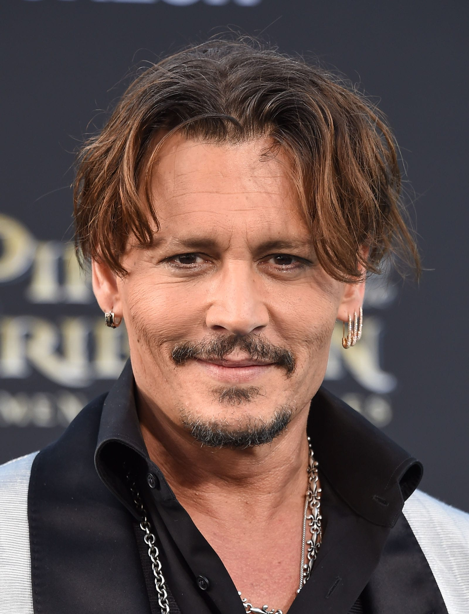 Johnny Depp curtained hairstyle by DFree