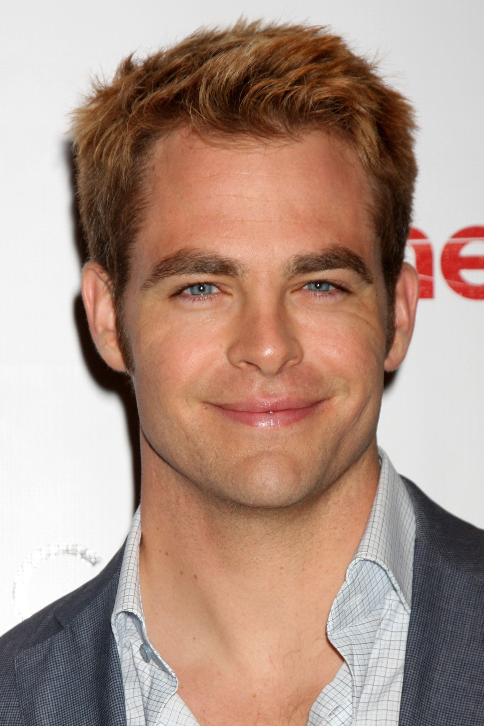 Chris Pine messy textured spiky top undercut by Kathy Hutchins