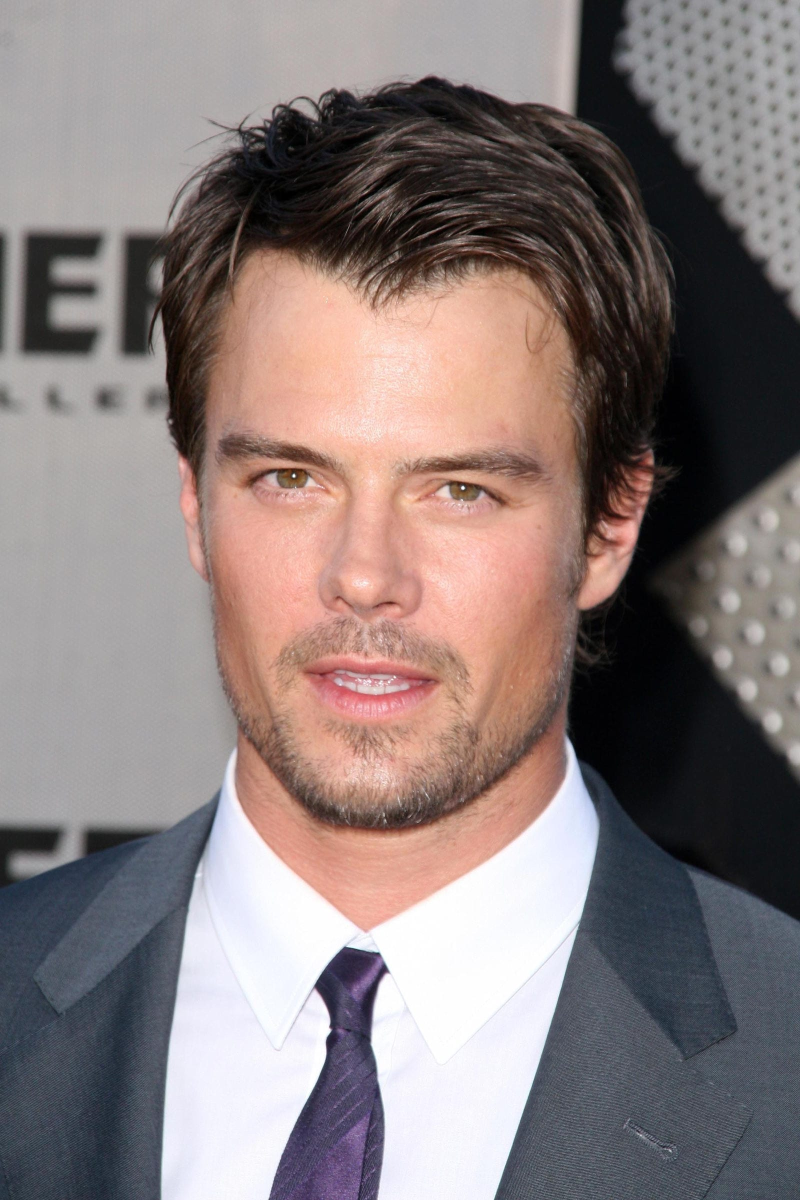 Josh Duhamel widow peak messy side part comb over by s_bukley